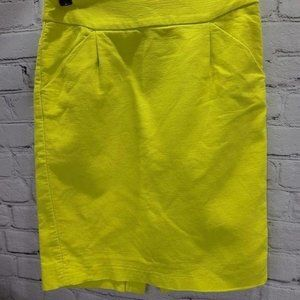 J. Crew The pencil Skirt Yellow slit in back